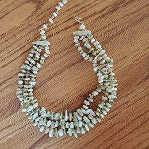 Vintage Triple Strand  Seashell Princess Necklace